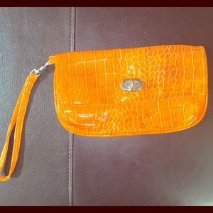 Orange Nine West Clutch